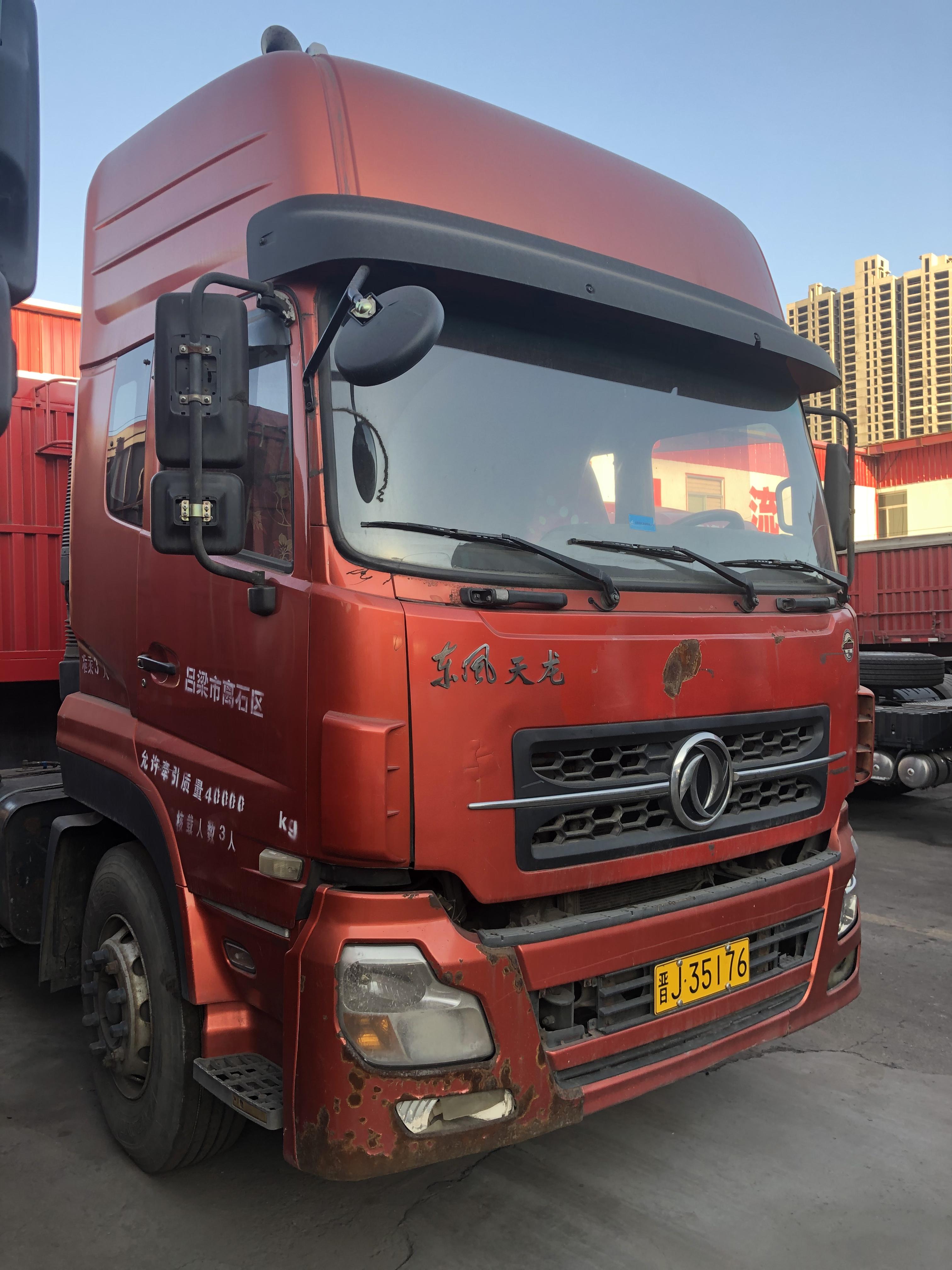 东风天龙 牵引车  340匹 2013年12月 6x4