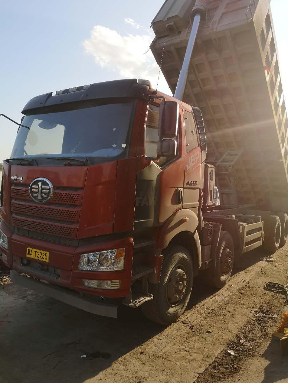 一汽解放J6P重卡 重载型 自卸车  460匹 2019年08月 8x4