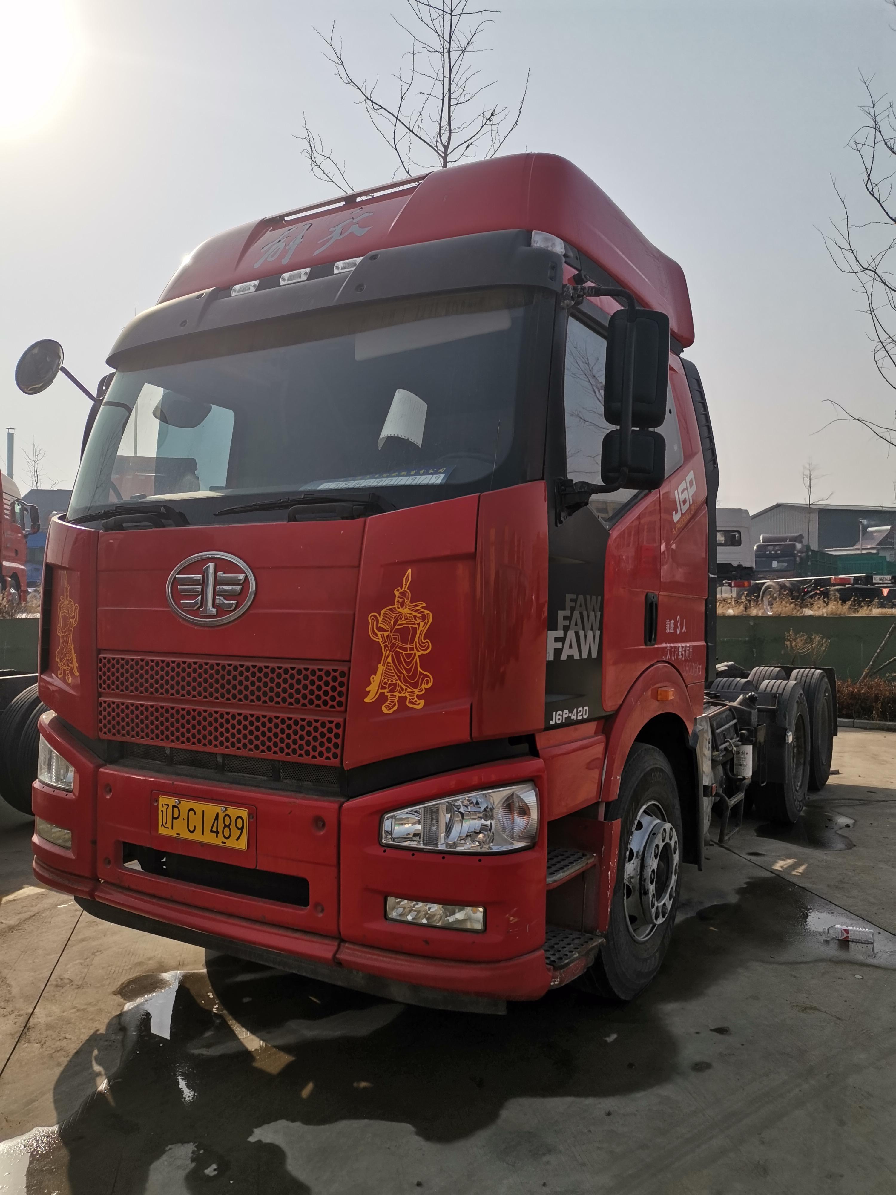 一汽解放J6P重卡 牵引车  420匹 2014年08月 6x4