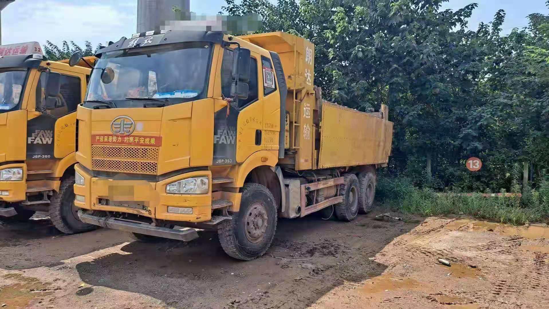 一汽解放J6P重卡 自卸车  350匹 2018年07月 6x4